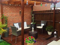 Intimate decking area Andover