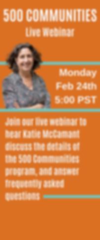 500 Communities Live Webinar & Informati