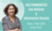 500 Communuties Live Webinar & Informati