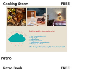 Retro and Cooking Storm Books