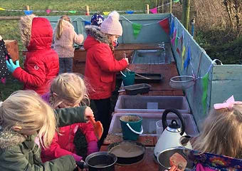 raspberry fields childrens pony party mud kitchen