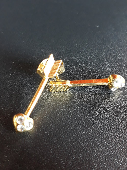 Brinco em formato de flecha, bijuteria