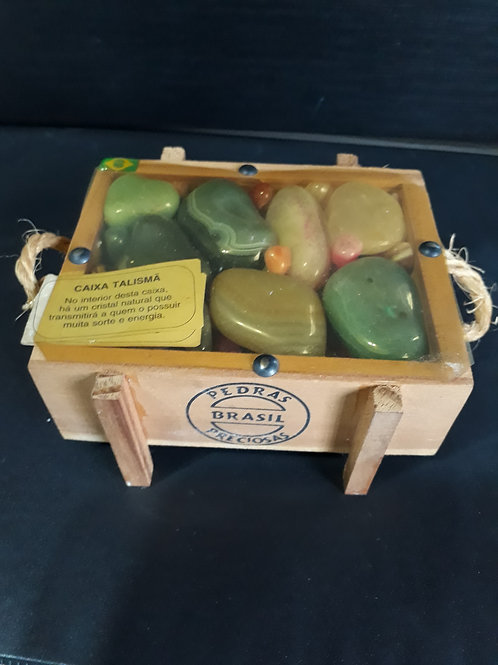 Caixa de pedras sortidas