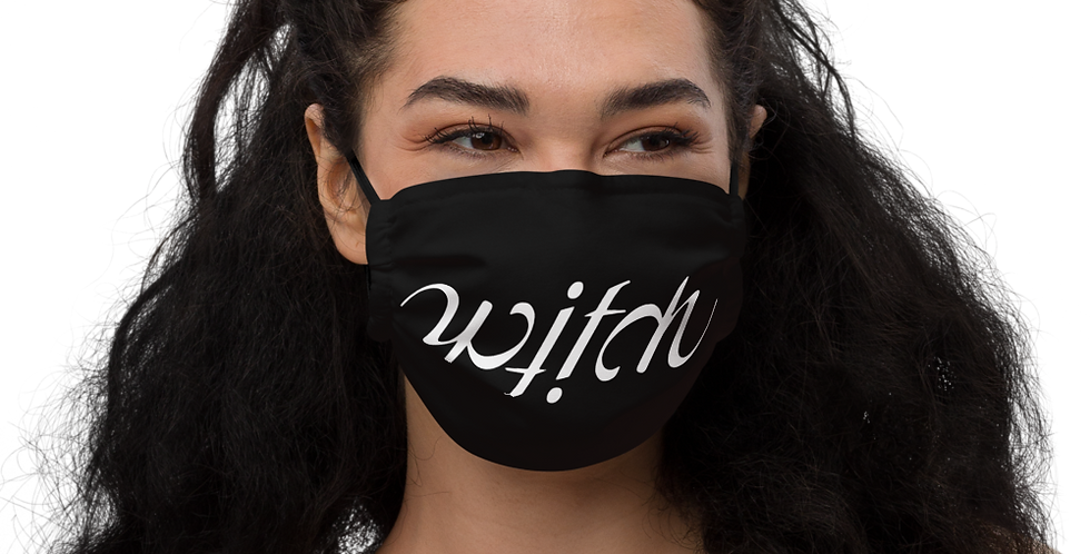 Witch Ambigram face mask