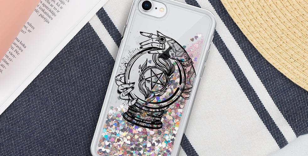 Crystal Ball Liquid Glitter Phone Case