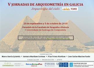 V Jornadas de Arqueometría en Galicia: Arqueología del cielo (Santiago de Compostela, 28 septiembre