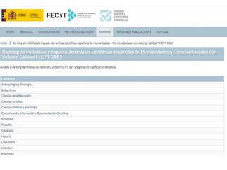Ranking de visibilidad e impacto de revistas científicas españolas en Humanidades y Ciencias Sociale