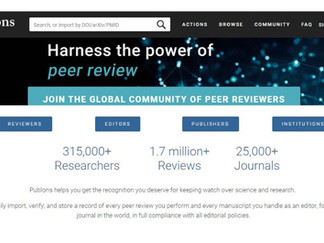 Publons: una herramienta para justificar la actividad de revisión por pares