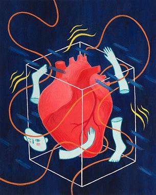 "Illustration for Edgar Allan Poe's ""A Tell-Tale Heart"""