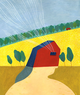 """Illustration for Adam Marek's short story, """"The Stormchasers"""""""