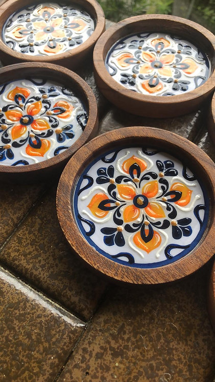 Hand-painted Coasters Box 2