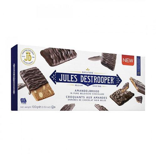 Almond Thins in Belgian Dark Chocolate