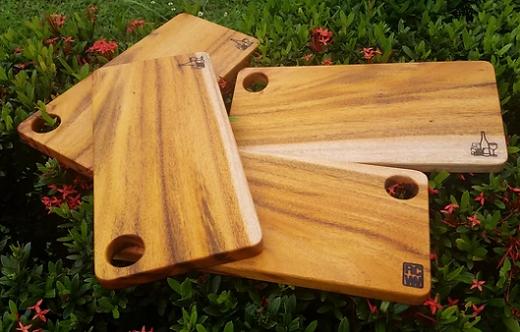 Plain Mahogany Cheese Board