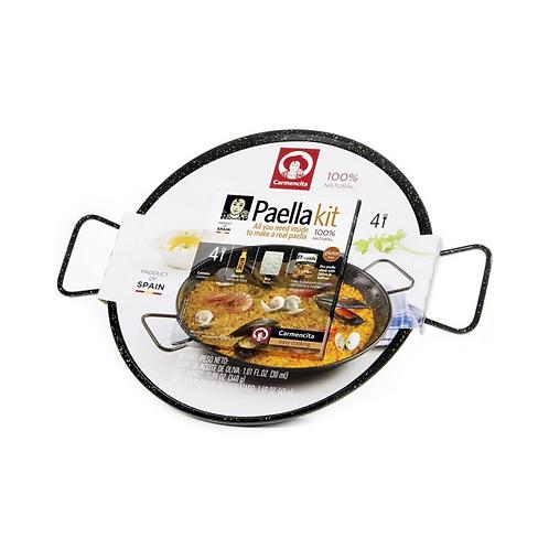 Paella Kit in Enameled Pan For 4