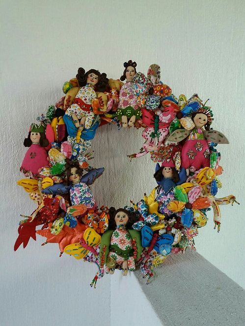 Spring Wreath with Angels