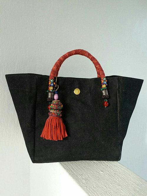 Large Plain Black Bag