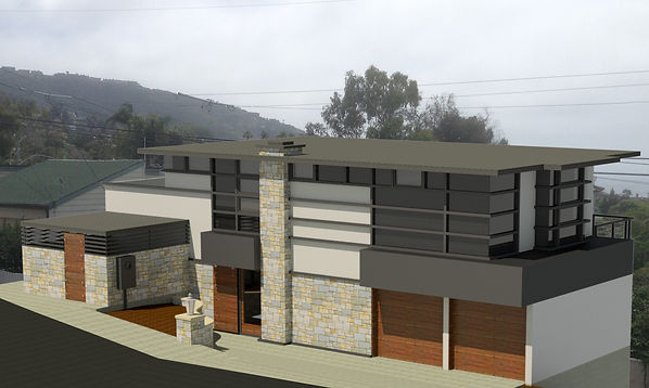 architecture, before and after, laguna beach, 3D rendering