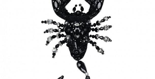 "Брошь ""Скорпион"" чёрный"
