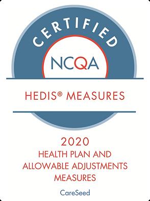 CareSeed HEDIS 2020 certification seal.p
