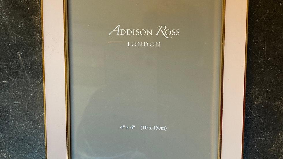 Cornice porta foto 10 x 15 rosa bordino oro
