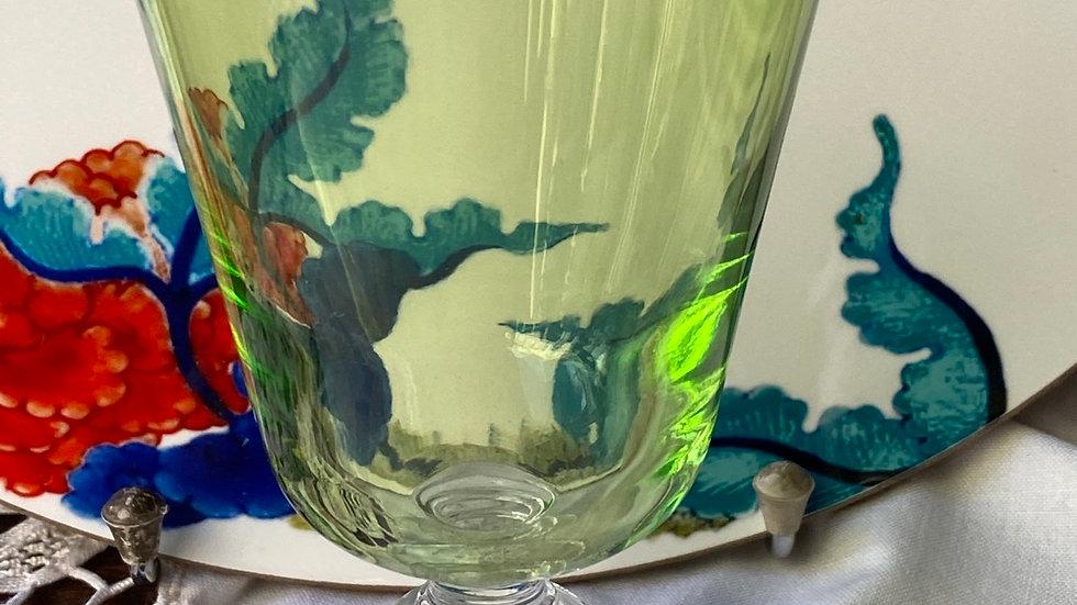 Bicchiere calice verde set di sei