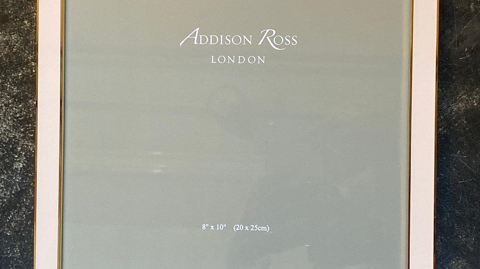 Cornice porta foto 20x 25  rosa bordo oro