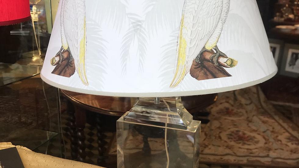 Lampada in cristallo cm 41( altezza senza paralume )