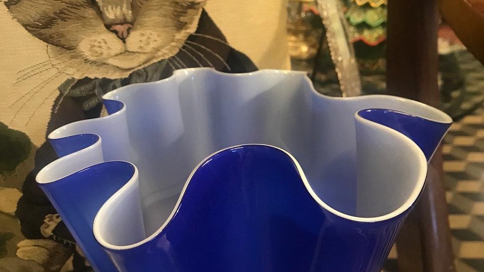 Vaso blu Murano cm 24