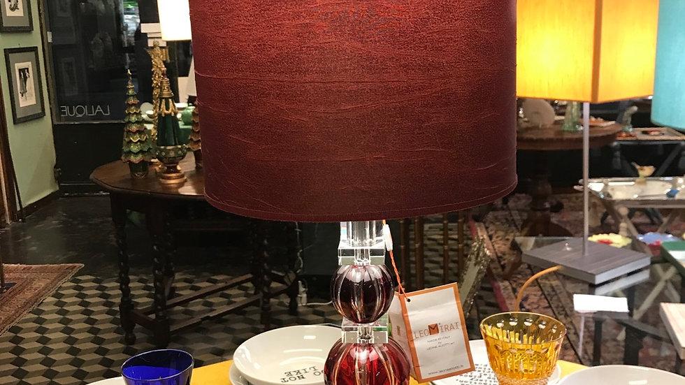 Lampada in cristallo Leone Aliotti h cm 68 diametro paralume 28