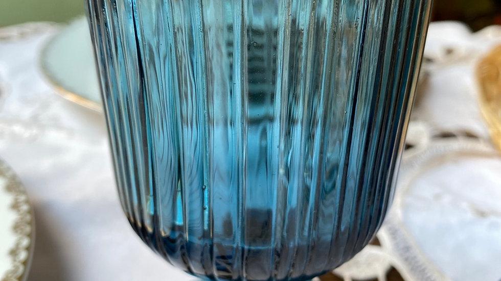 Bicchiere acqua millerighe blu
