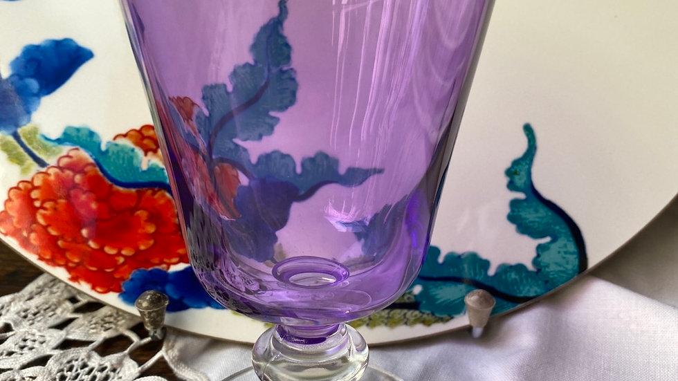 Bicchiere  calice viola set di 6