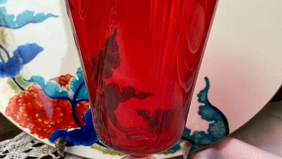 Bicchiere calice rosso set di 6
