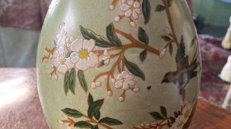 Uovo in ceramica grande  Primavera