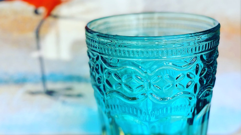 Bicchiere Cannes acquamare