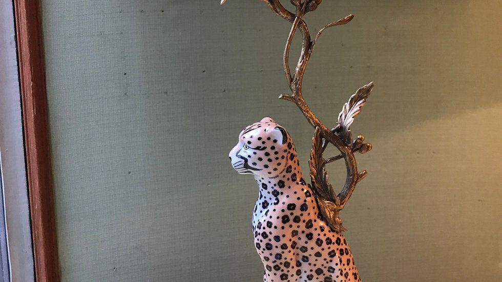 Candeliere in ceramica e bronzo cm 40