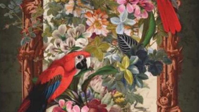 Pannello in velluto Les Perroquets