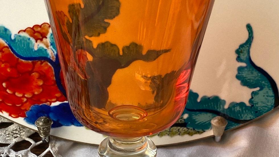 Bicchiere calice arancio set di 6