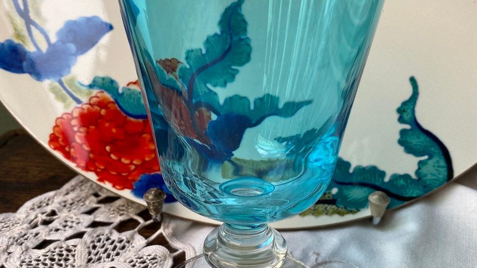 Bicchiere  calice azzurro