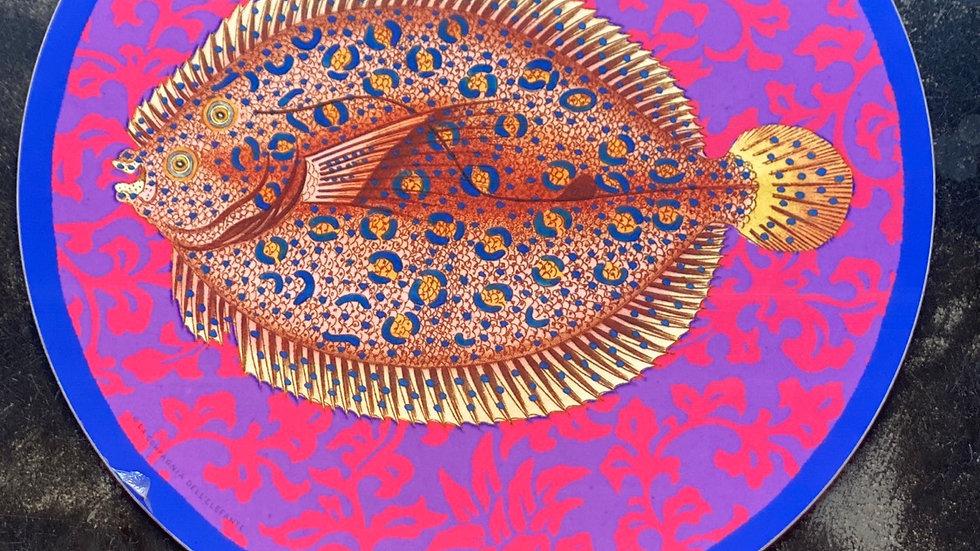Sottopiatto pesci e fiori