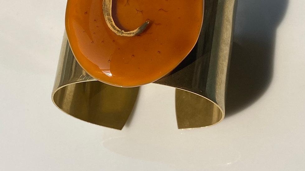 Bracciale realizzato in vetrofuso  caramello C