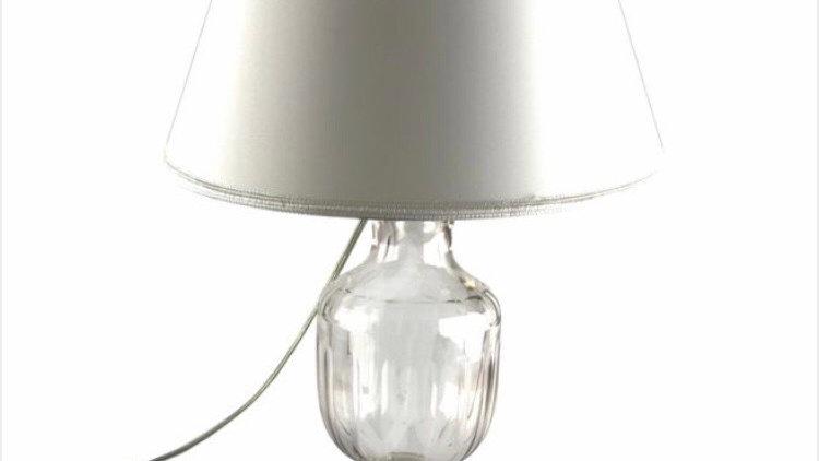 Lampada in cristallo cm 39 senza paralume