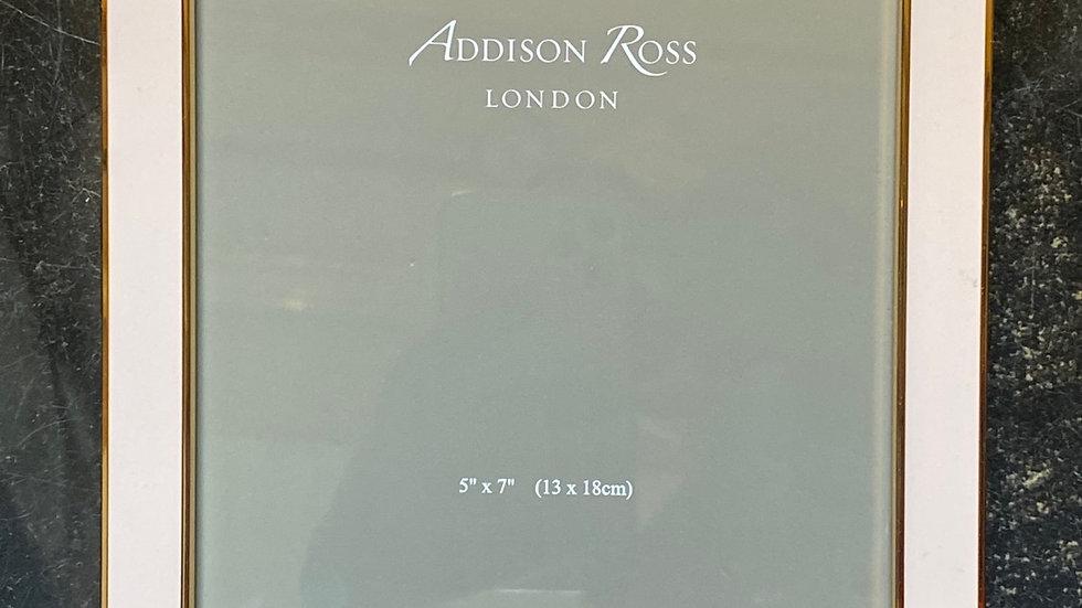 Cornice porta foto 13 x 18   Rosa bordino oro