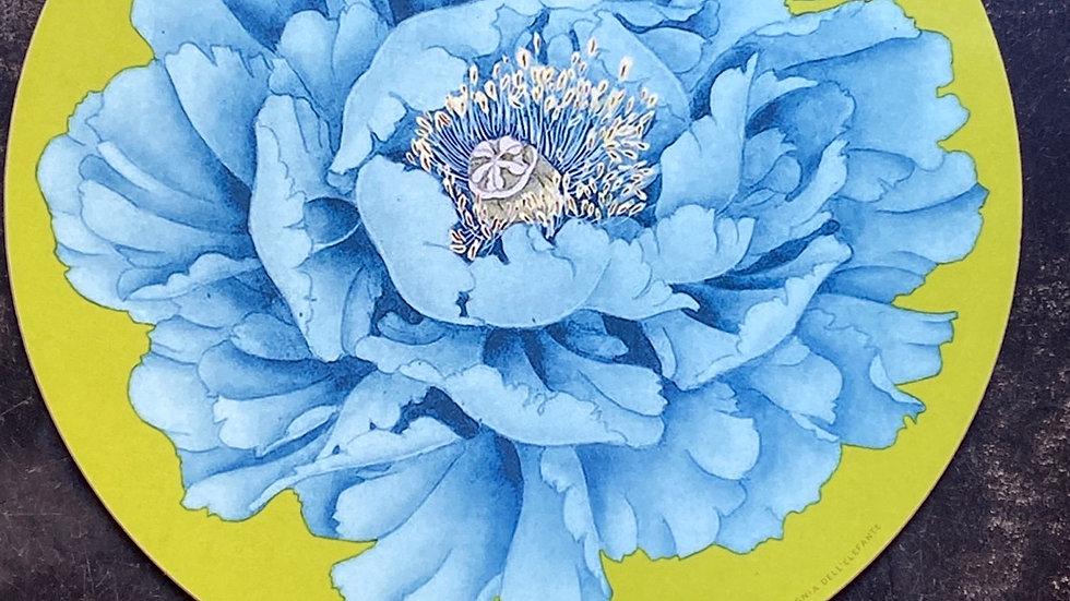 Sottopiatto Peonia blu