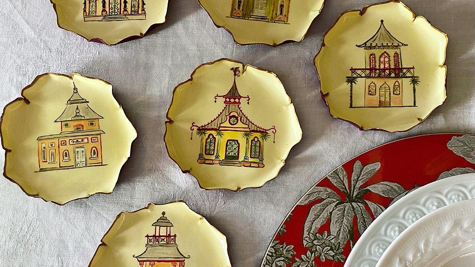 Set 6 piattini Pane Pagoda