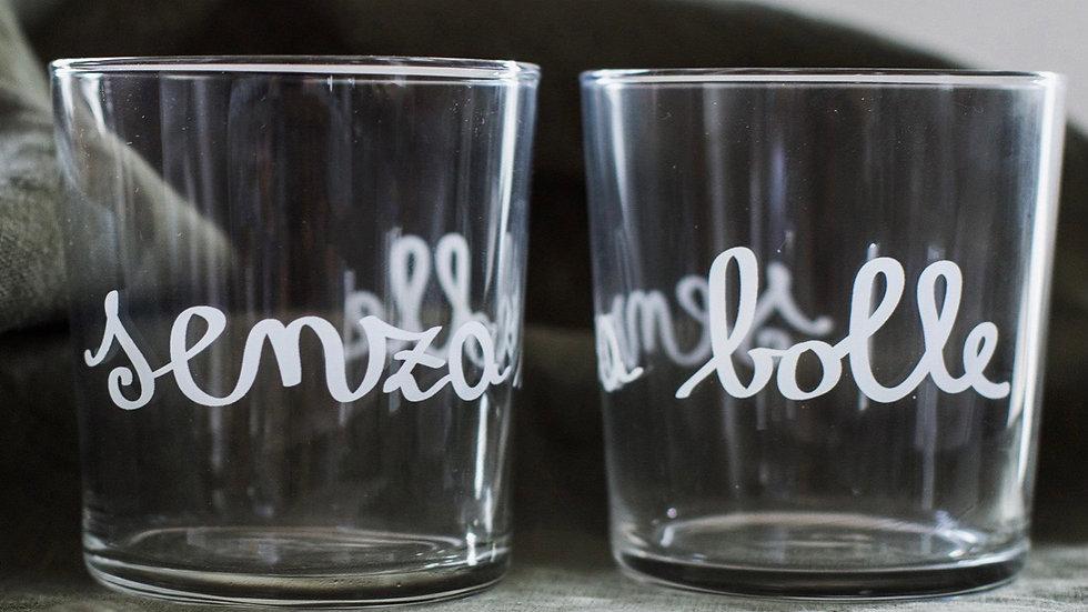 "Set 2 bicchieri  "" senza bolle"""