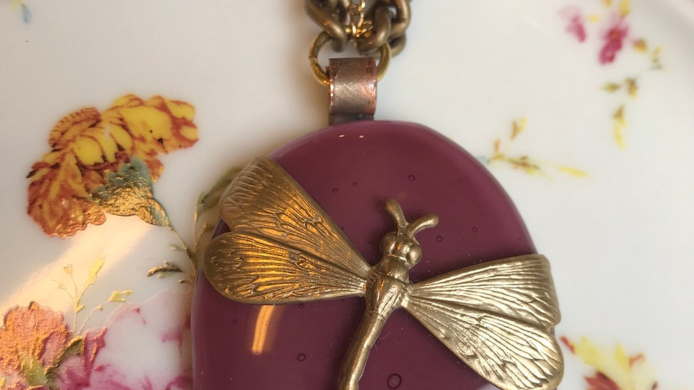 Collana con ciondolo in vetrofuso  di Murano