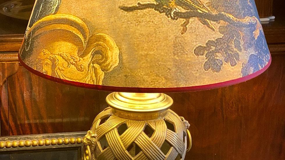 Lampada in ottone  e metallo metà XX secolo