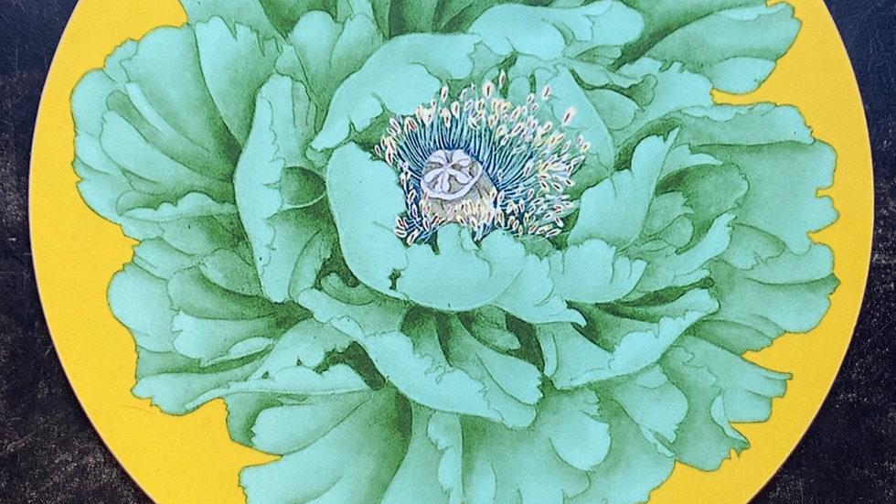 Sottopiatto Peonia verde