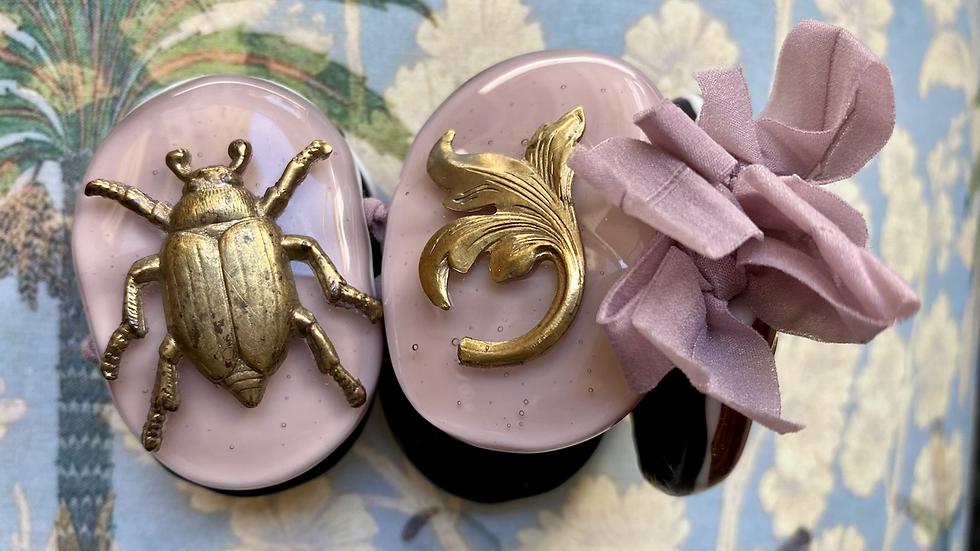 Bracciale  ovale in vetro fuso di Murano