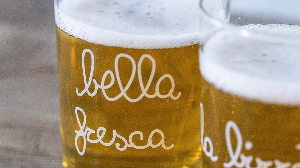 "Set due bicchieri  birra "" bella fresca"""